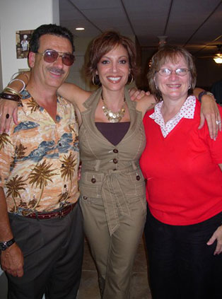 Joseph Gargiulo with his wife Peggy and niece, Tonia.